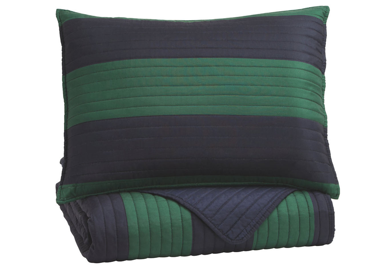 Reggie Blue/Green Twin Coverlet Set,Signature Design By Ashley