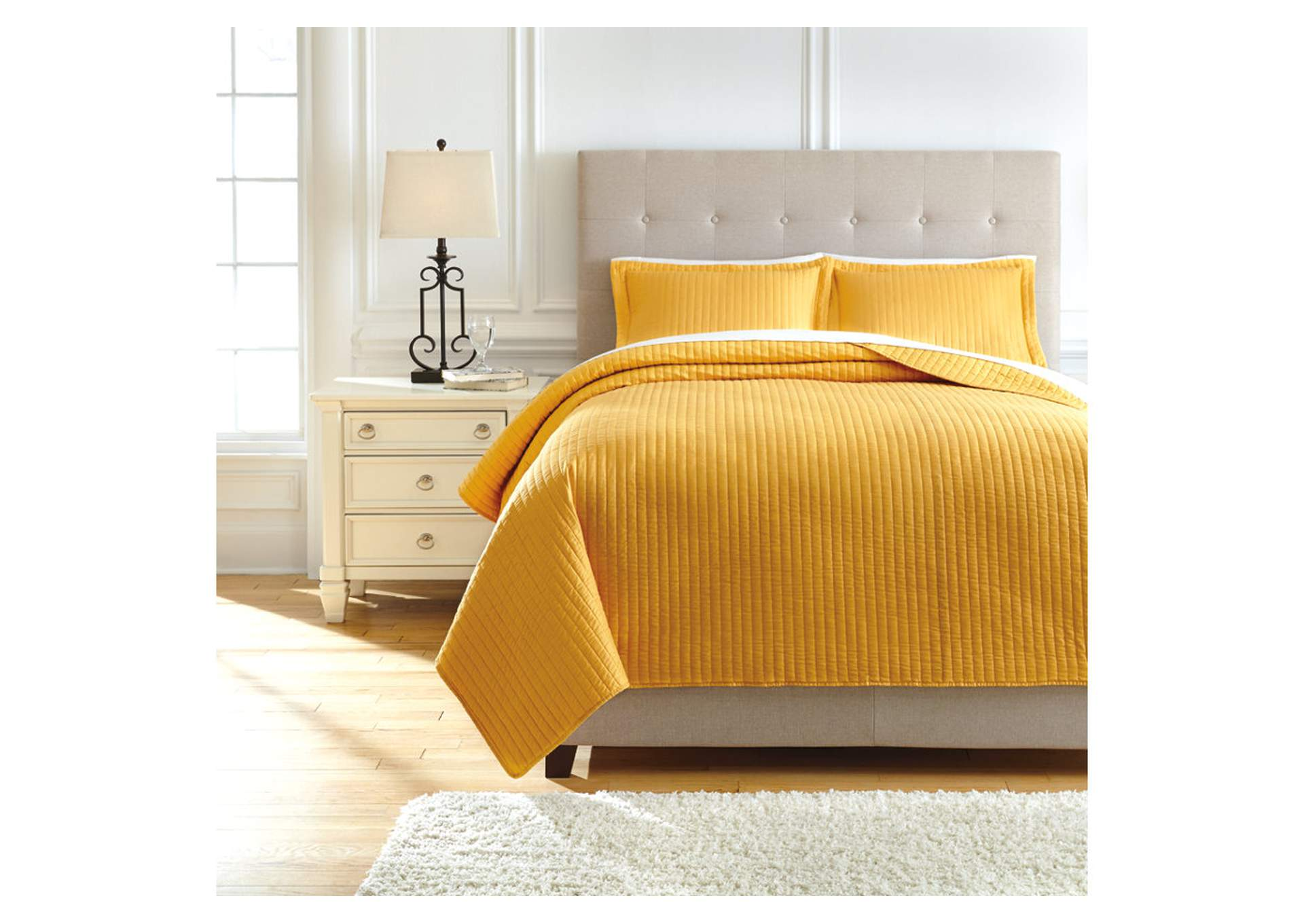 Raleda Ochre Queen Coverlet Set,Signature Design By Ashley