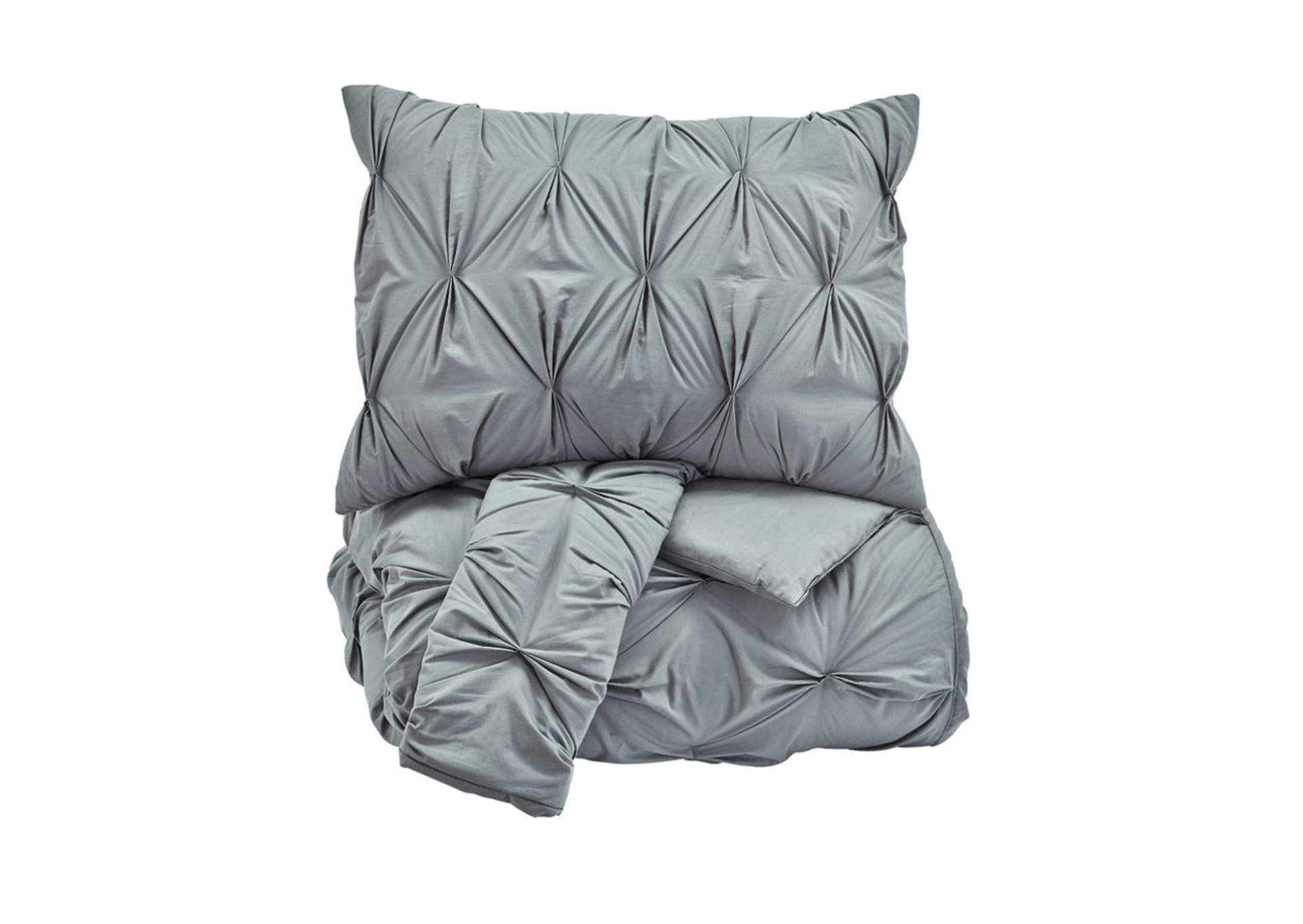 Rimy Gray King Comforter Set,Signature Design By Ashley