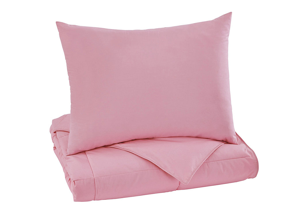 full twin and warmth rose softness pink set of image comforter