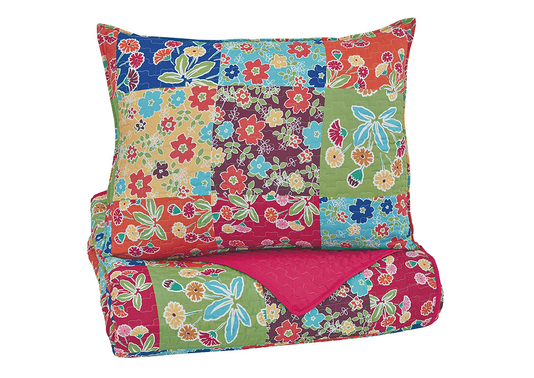 Belle Chase Patch Twin Quilt Set,Signature Design By Ashley