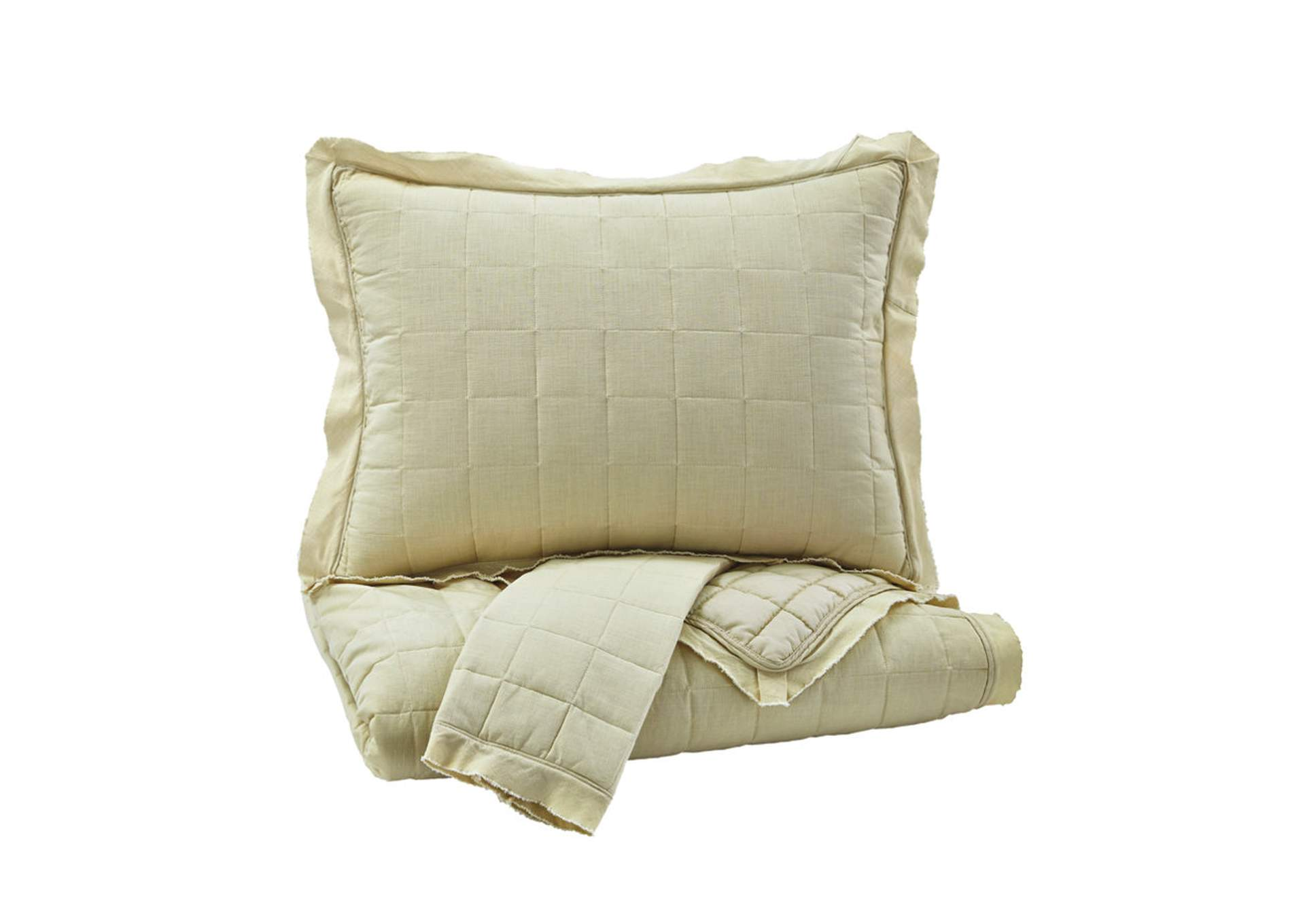 Amare Sand King Coverlet Set,Signature Design By Ashley