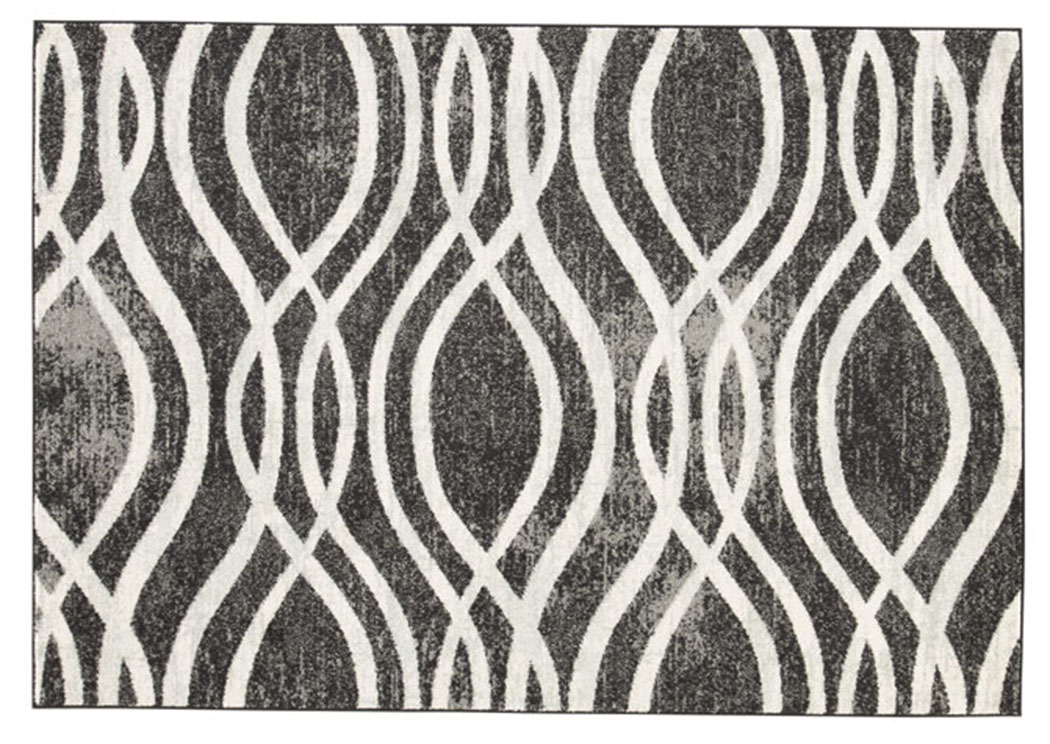 Avi Gray/White Large Rug,Signature Design By Ashley