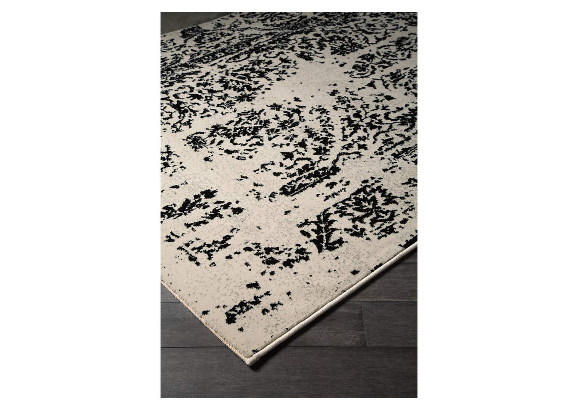 Jag Black/White Large Rug,Signature Design By Ashley