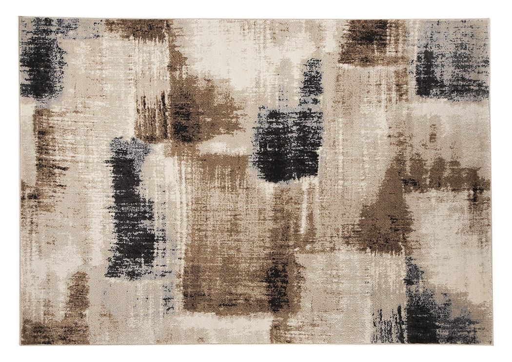 Calvin Brown/Black Large Rug,Signature Design By Ashley