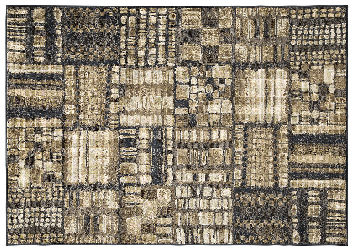 Hilliard Black/Brown Medium Rug,Signature Design By Ashley