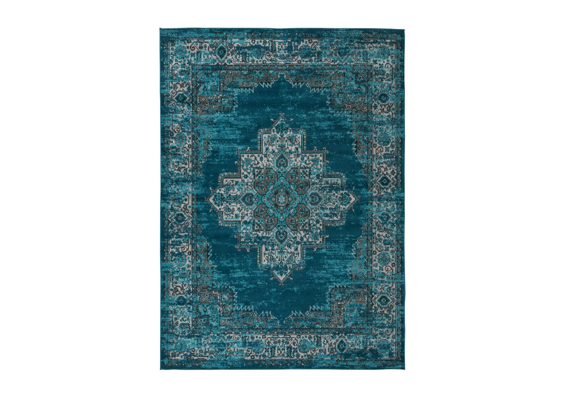 Moore Blue/Teal Large Rug,Signature Design By Ashley