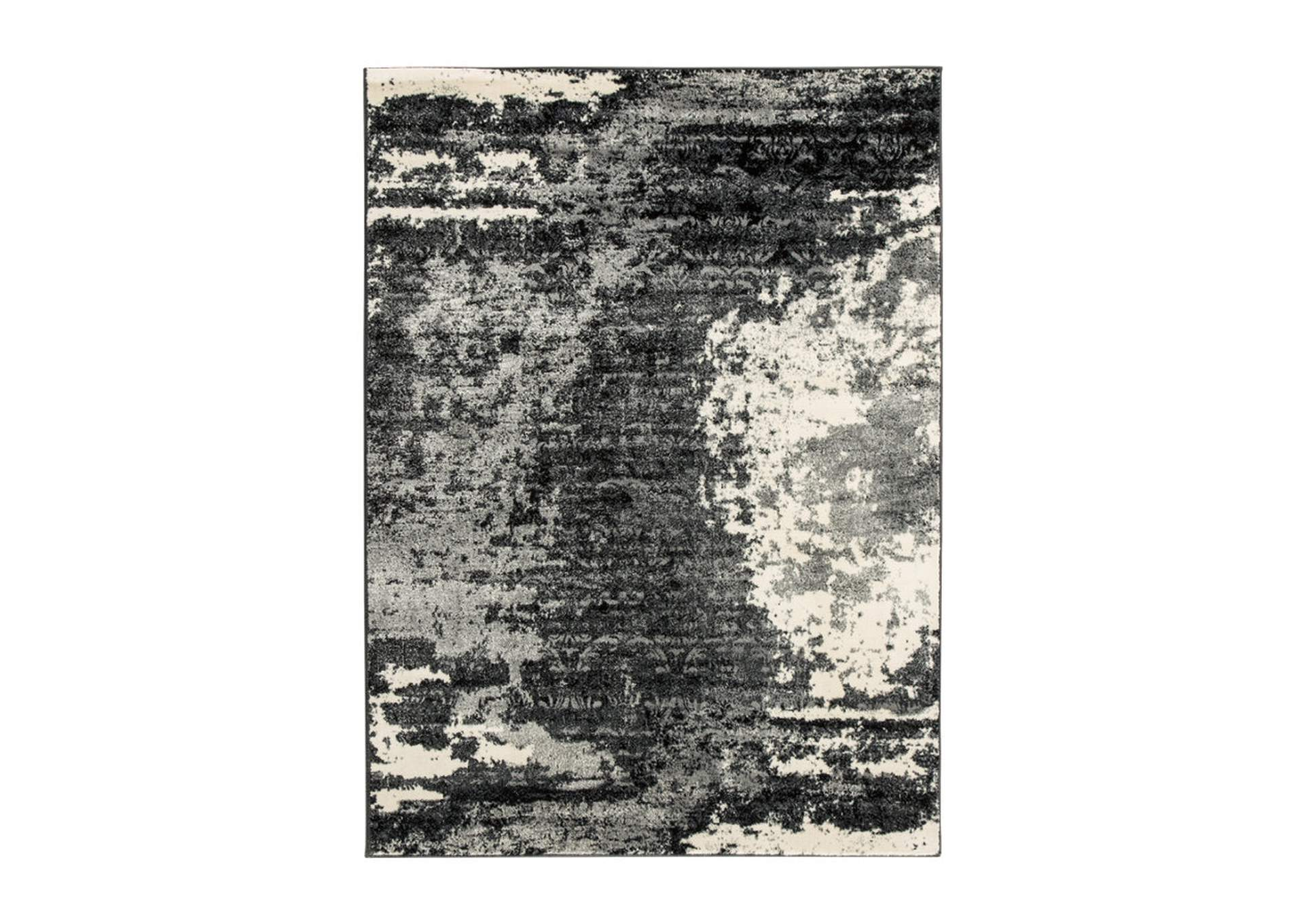 Roskos Black/Gray Medium Rug,Signature Design By Ashley