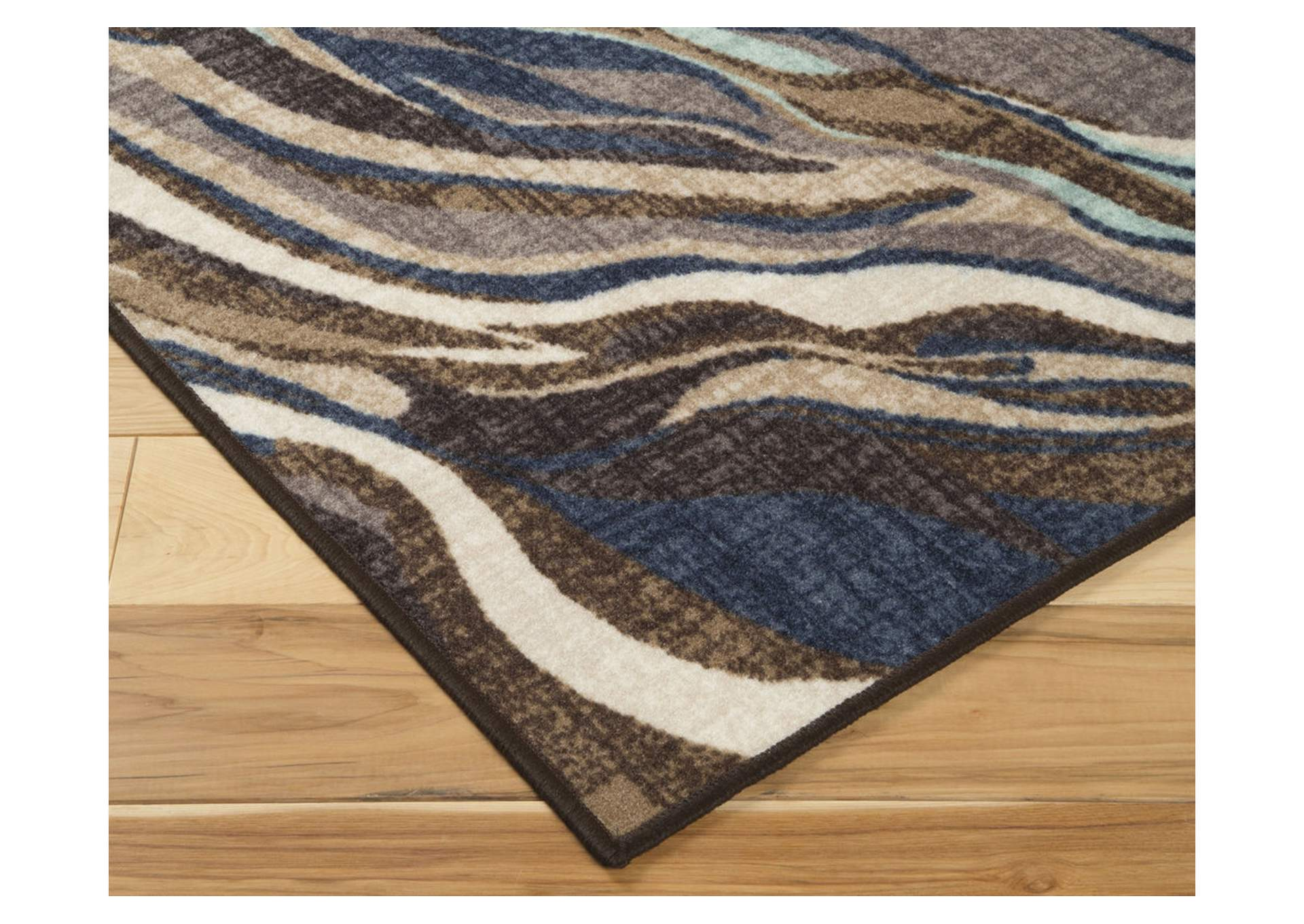 Jochebed Blue/Brown Medium Rug,Signature Design By Ashley