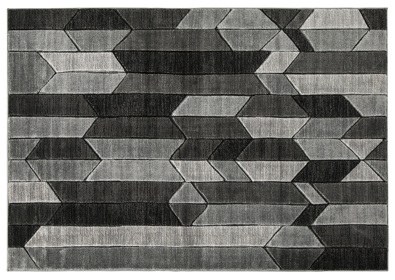 Chayse Black/Grey Medium Rug,Signature Design By Ashley