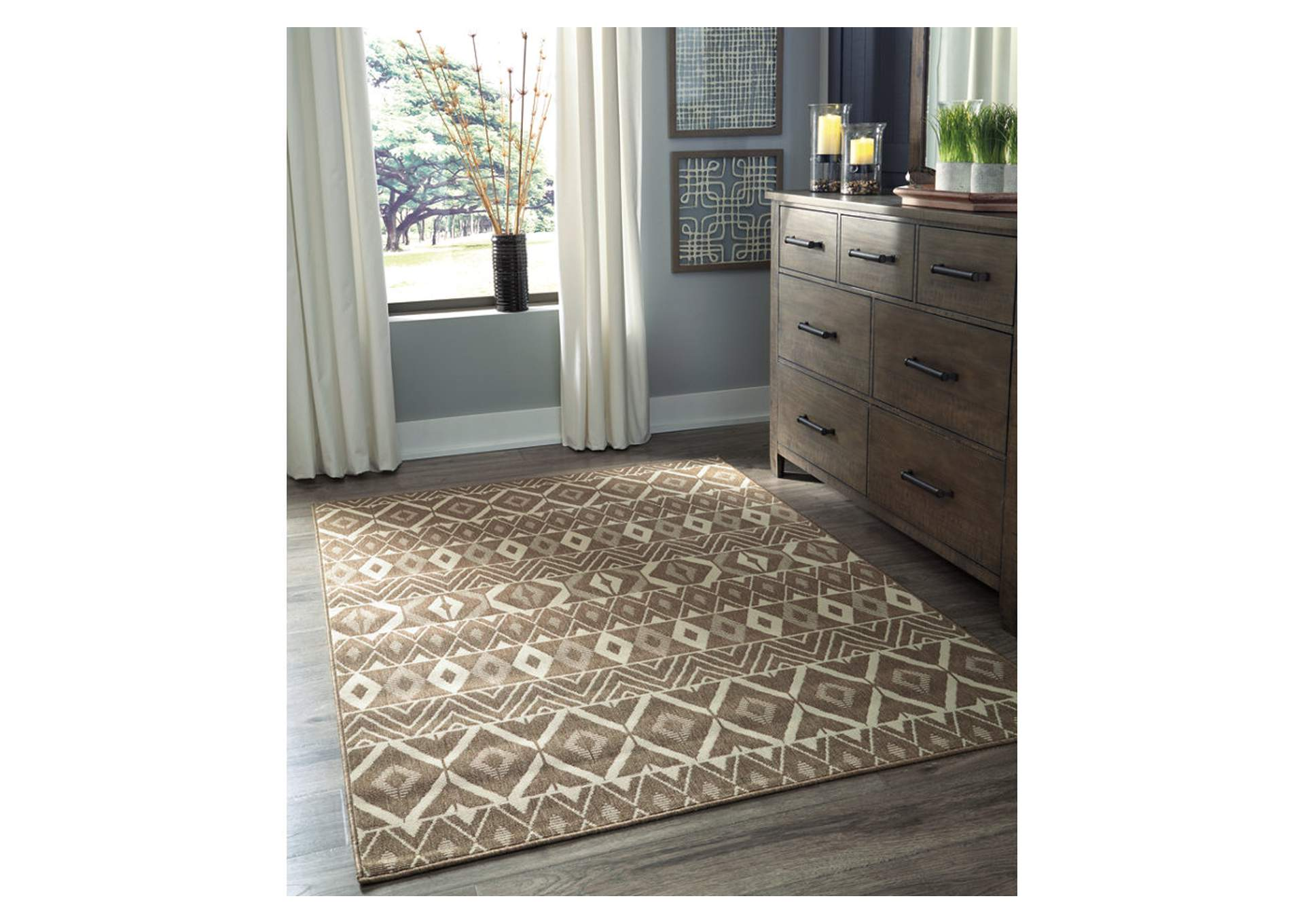 Donaphan Tan/Cream Large Rug,Signature Design By Ashley