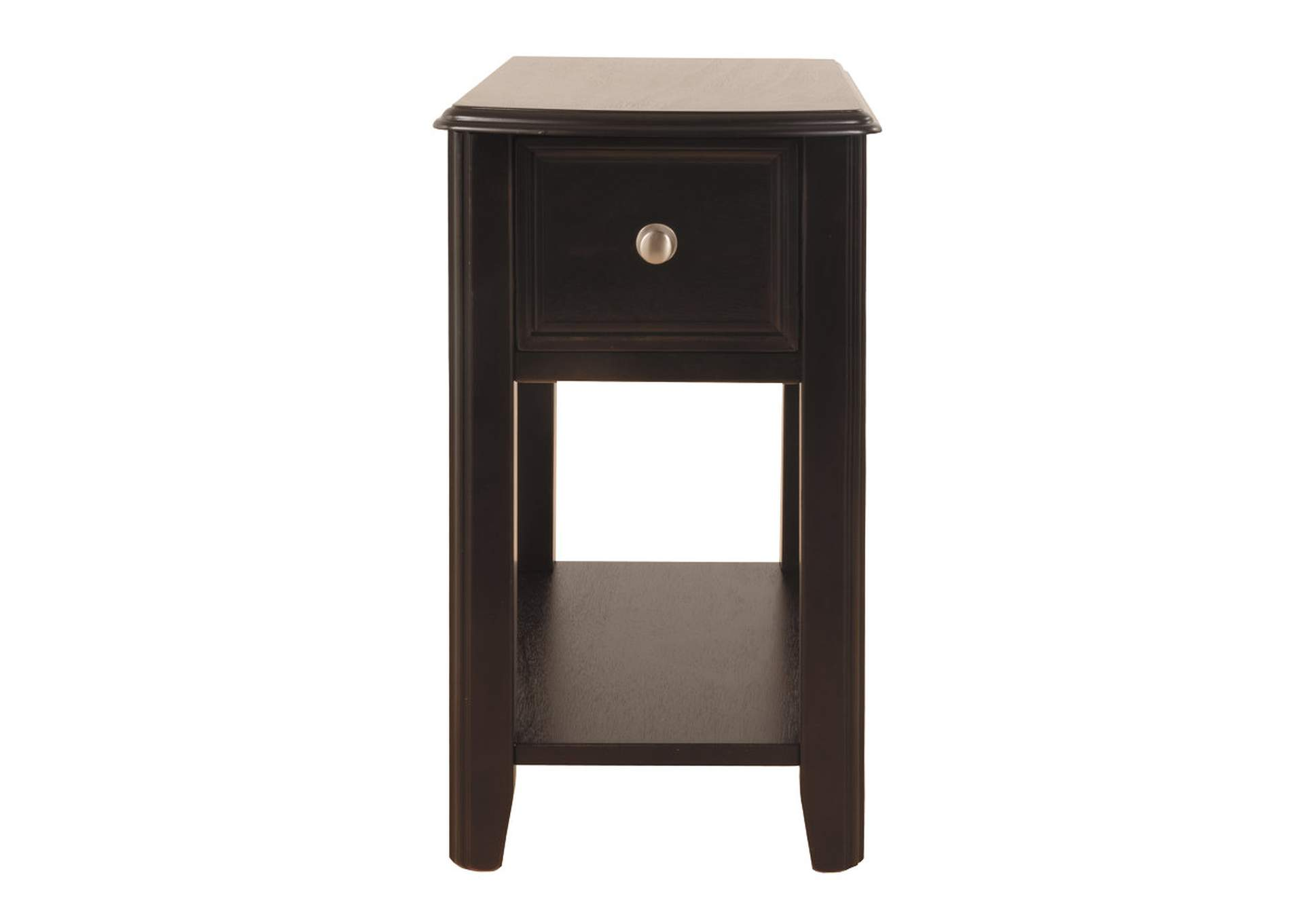 Almost Black Finish Chair Side End Table,Signature Design By Ashley