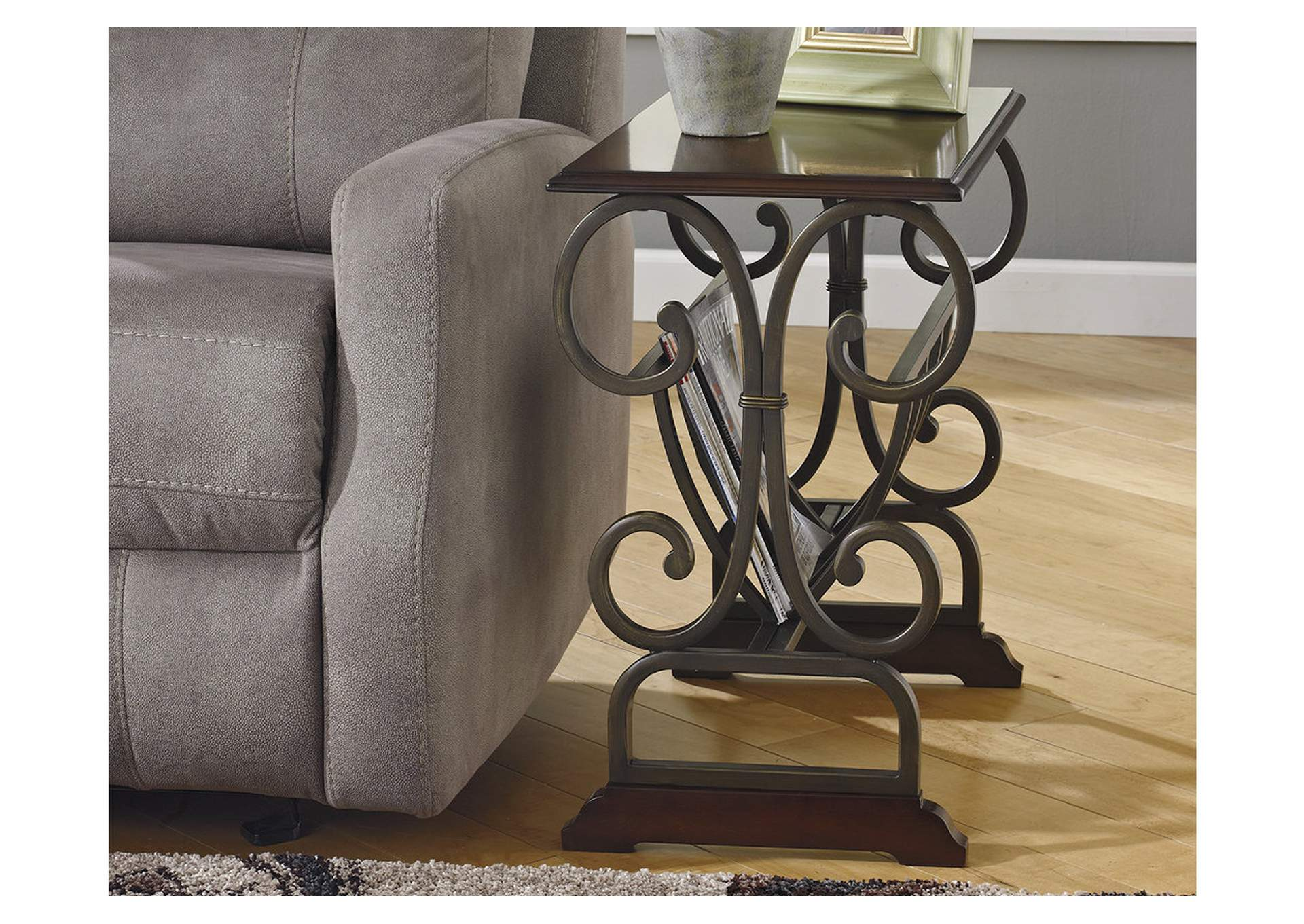 Braunsen Brown Chair Side End Table,Signature Design By Ashley