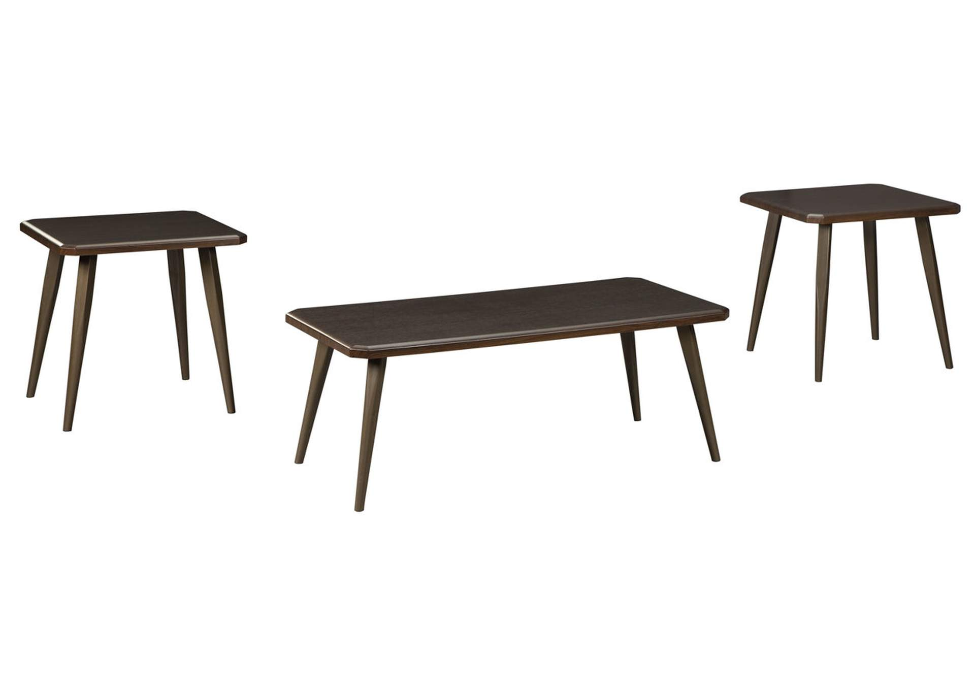 Fazani Dark Brown Occasional Table Set,Signature Design By Ashley