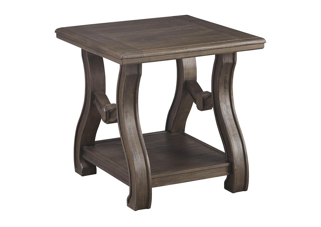 Ivan Smith Tanobay Gray Square End Table