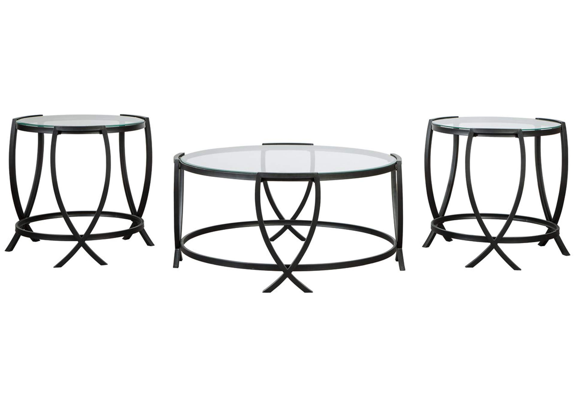 Tarrin Black Table (Set of 3),Signature Design By Ashley