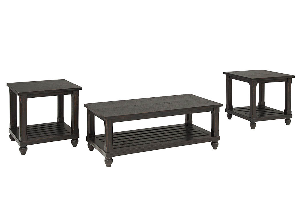 Kensington Furniture Mallacar Black Occasional Table Set
