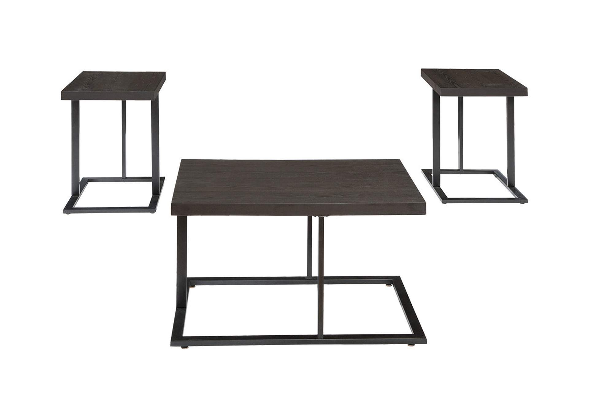 Airdon Gray Occasional Table Set (Cocktail & 2 Ends),Signature Design By Ashley