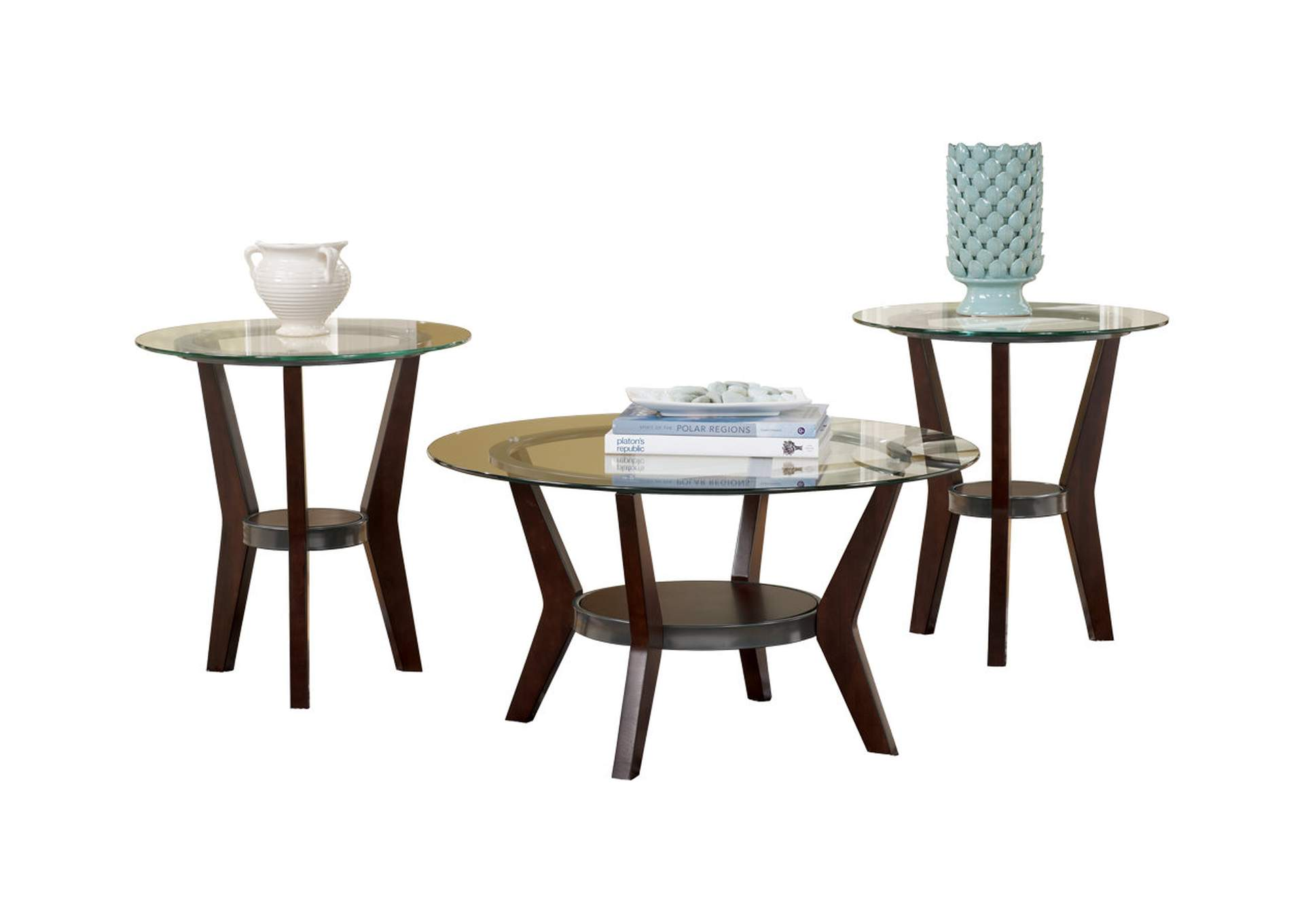 Fantell Occasional Table Set (Cocktail & 2 Ends),Signature Design By Ashley