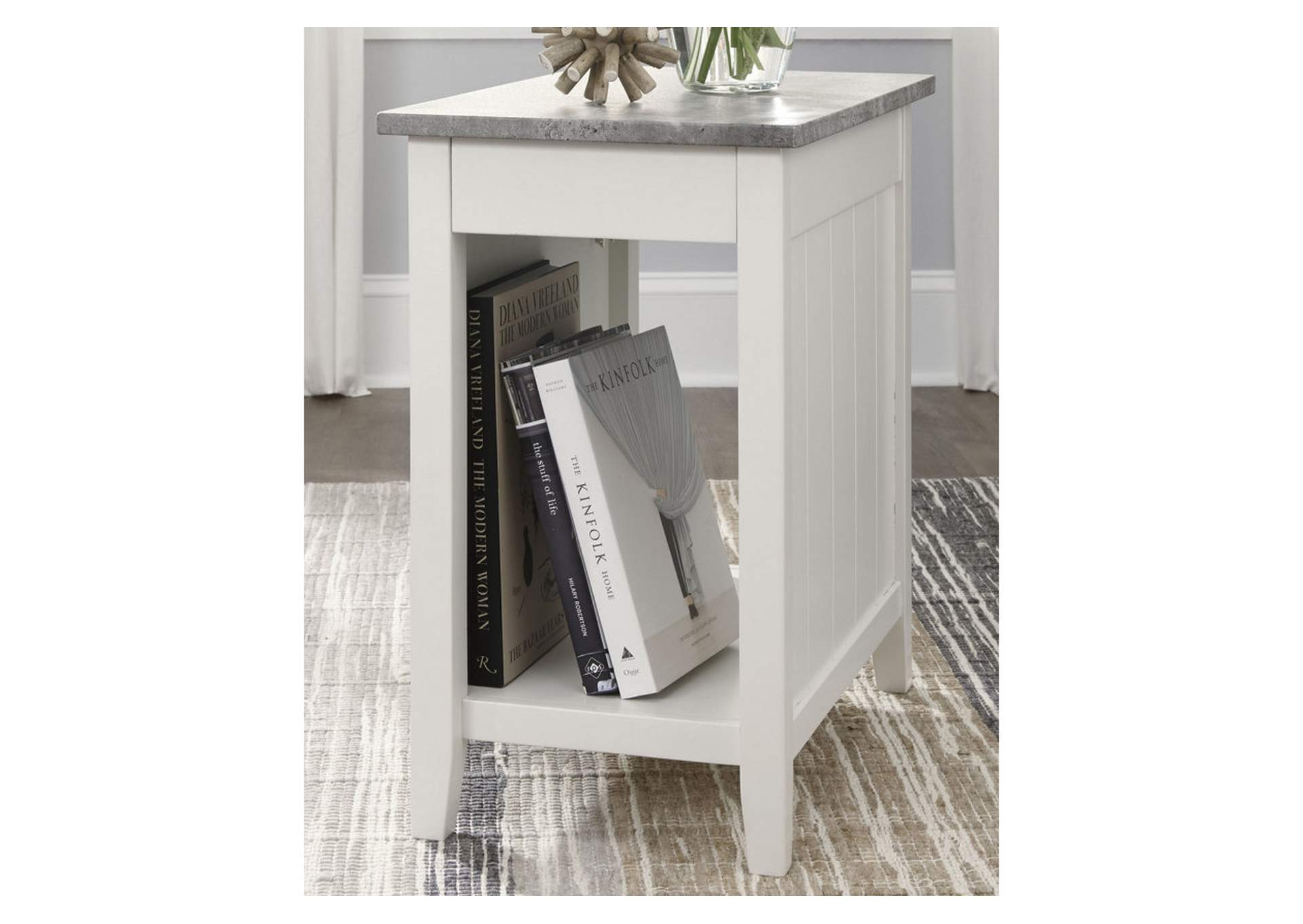 Diamenton White Chair Side End Table,Signature Design By Ashley