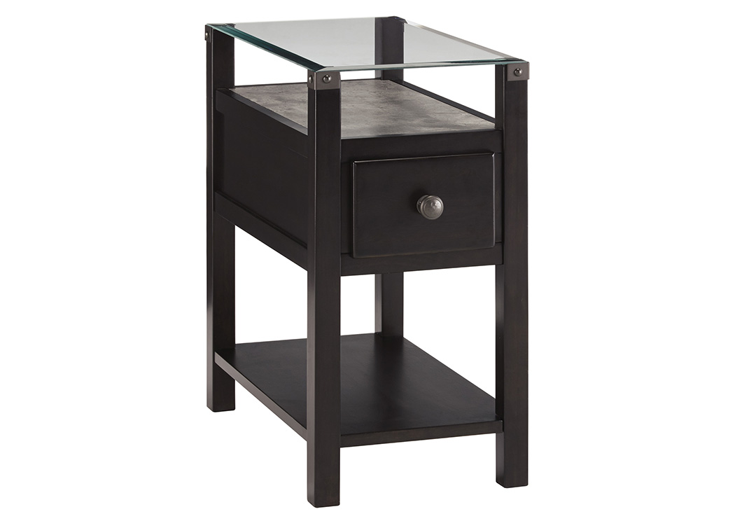 Diamenton Almost Black Chair Side End Table,Signature Design By Ashley
