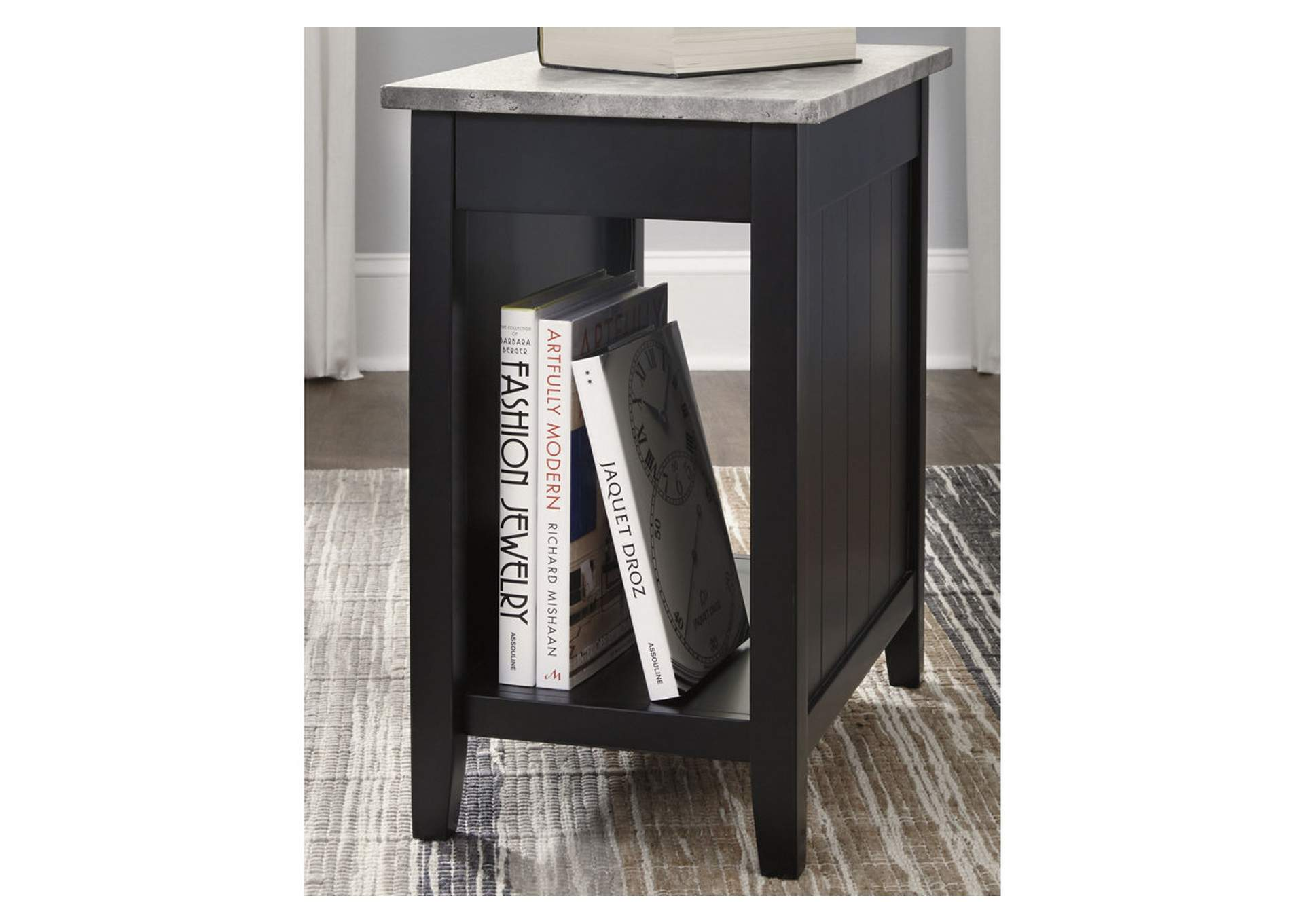 Diamenton Black Chair Side End Table,Signature Design By Ashley