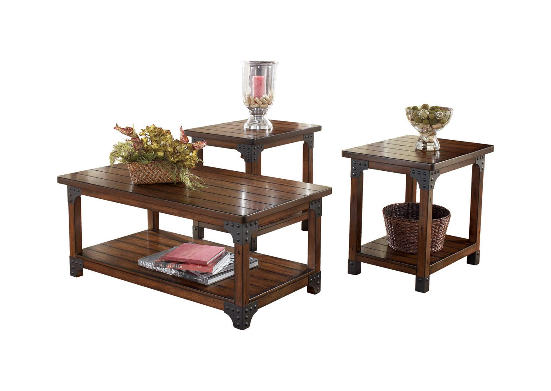Murphy Occasional Table Set (Cocktail & 2 Ends),Signature Design By Ashley
