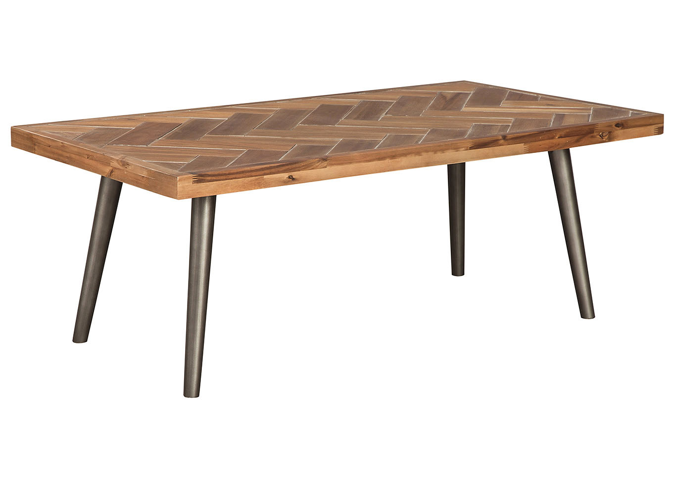 Vantori Light Brown Cocktail Table,Signature Design By Ashley