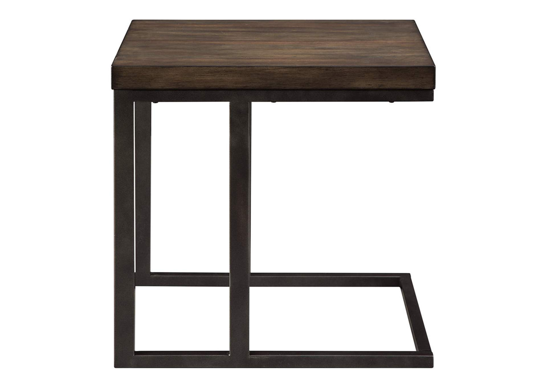 Johurst Grayish Brown/Black End Table,Signature Design By Ashley