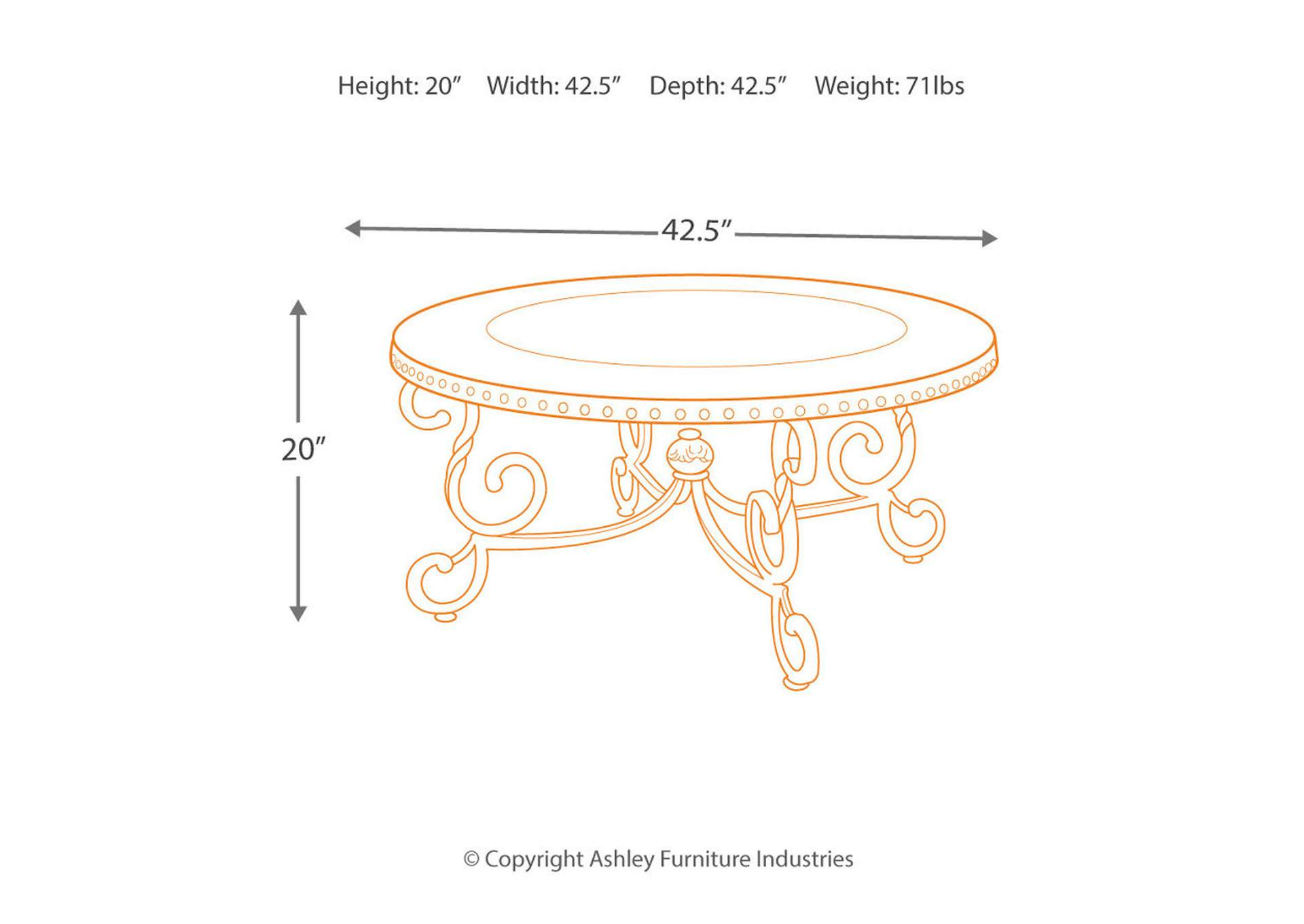 Rafferty Round Cocktail Table,Signature Design By Ashley