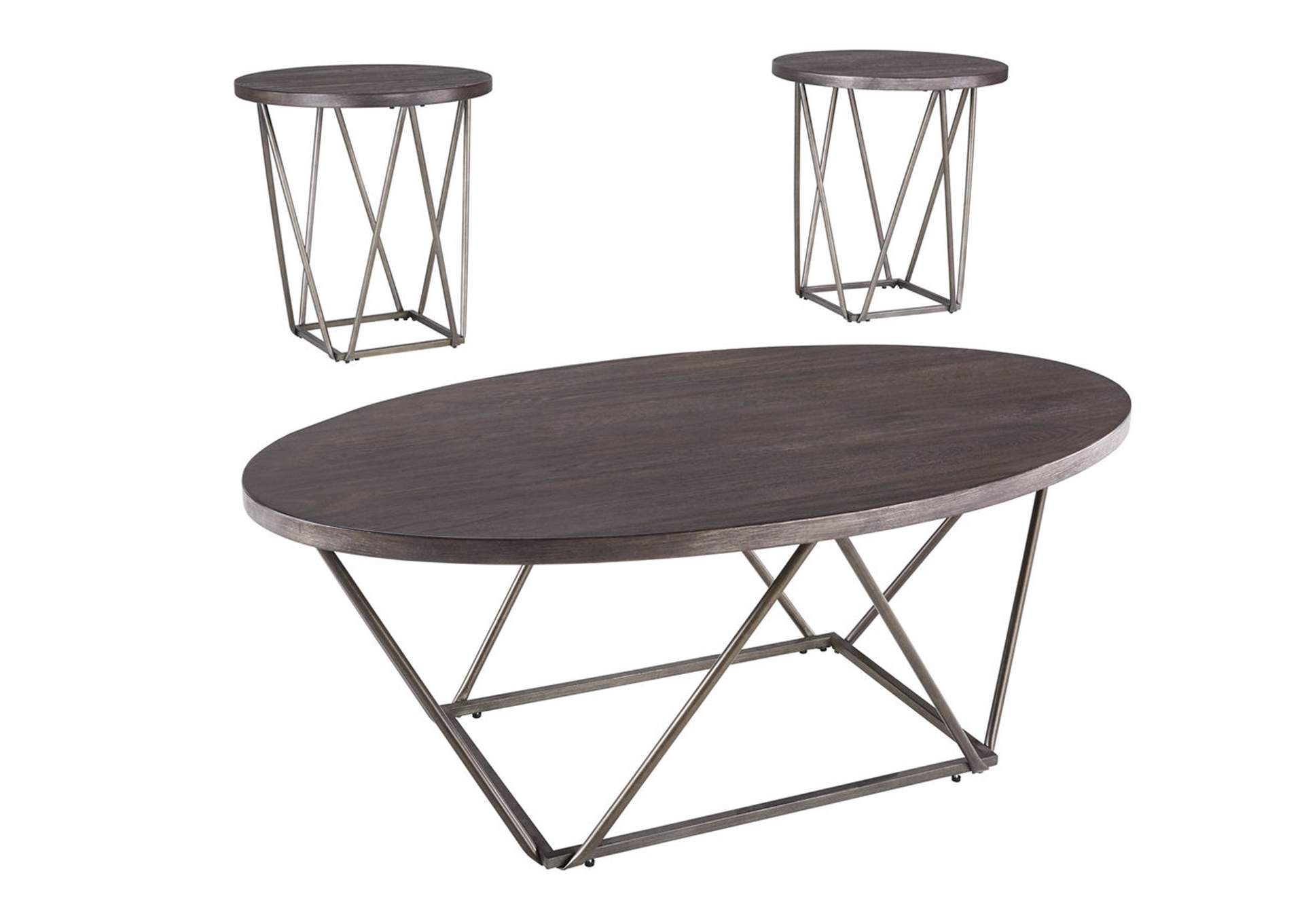 Neimhurst Dark Brown Occasional Table Set (3/CN),Signature Design By Ashley