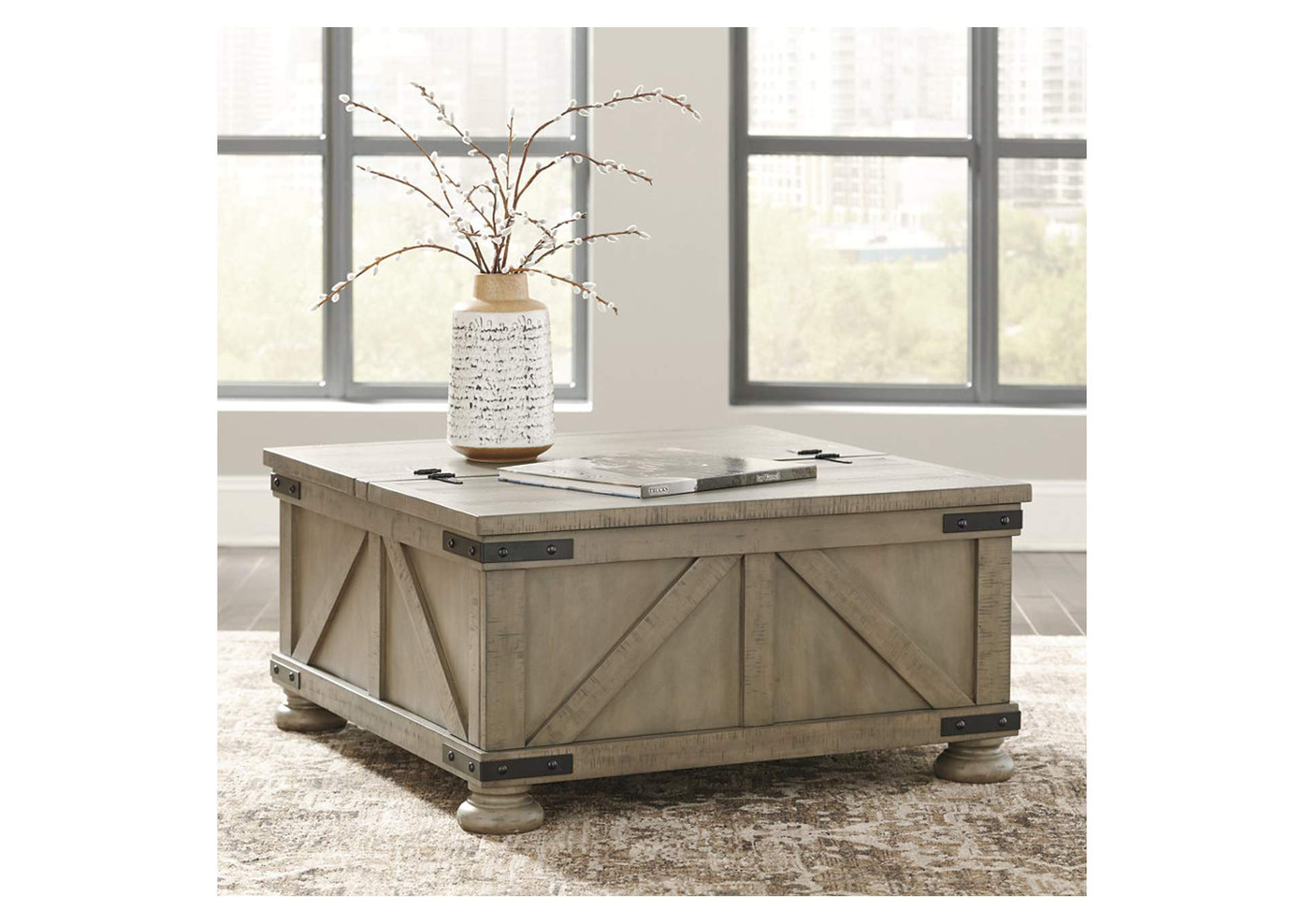 Aldwin Grey Cocktail Table w/Storage,Signature Design By Ashley
