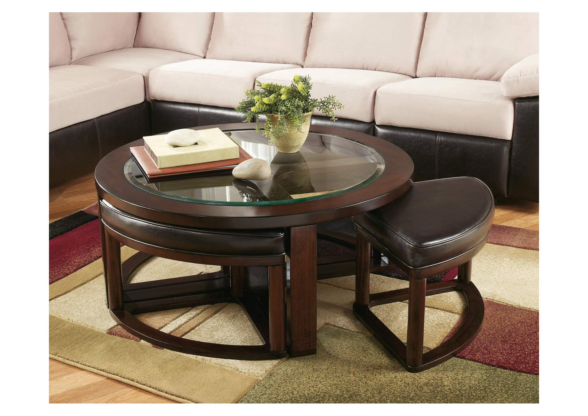 Marion Cocktail Table W /4 Stools