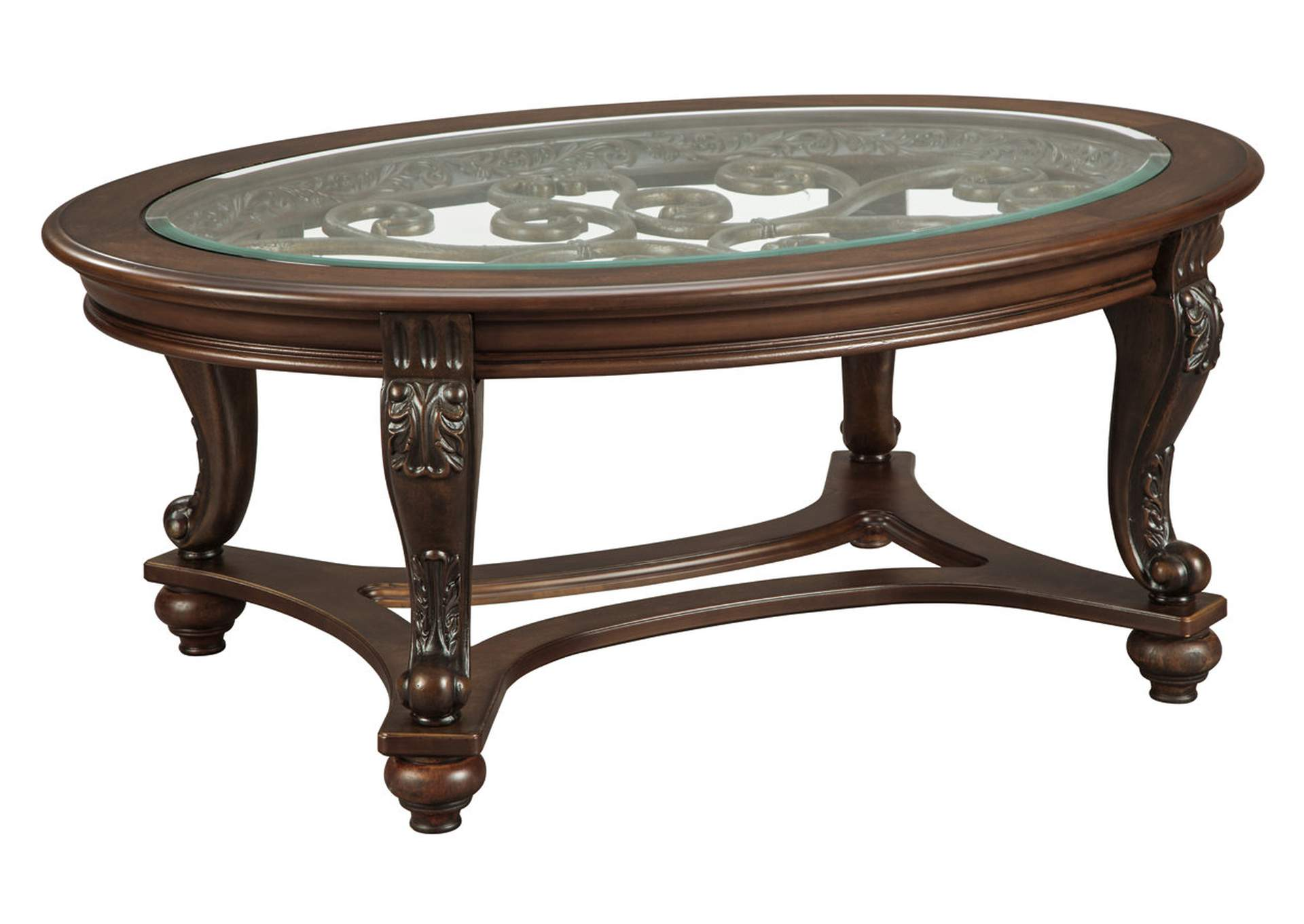 Norcastle Oval Cocktail Table,Signature Design By Ashley