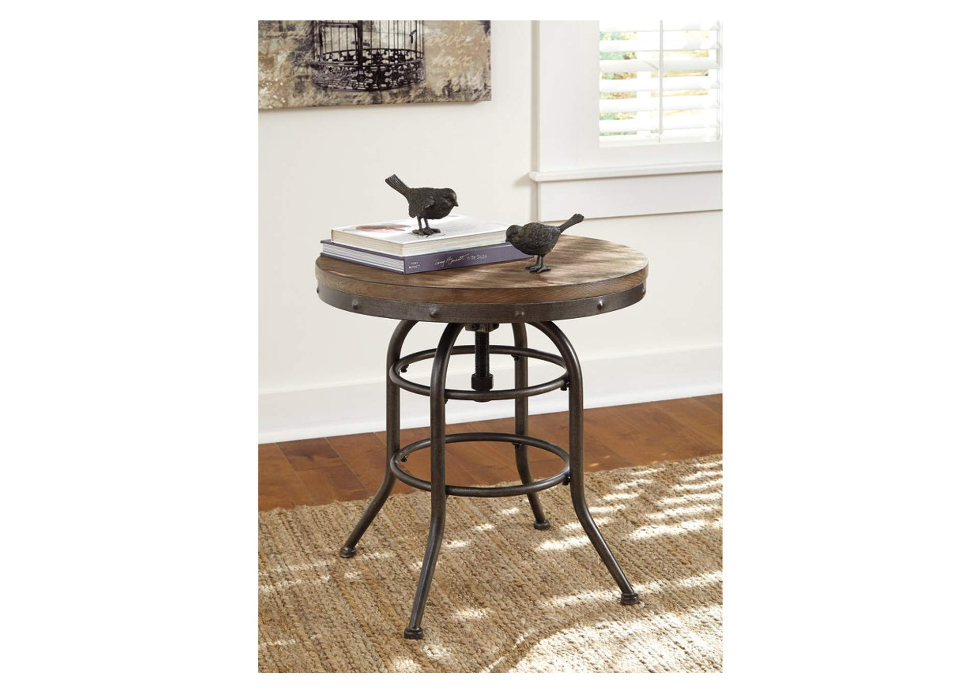 Vennilux Round End Table,Signature Design By Ashley