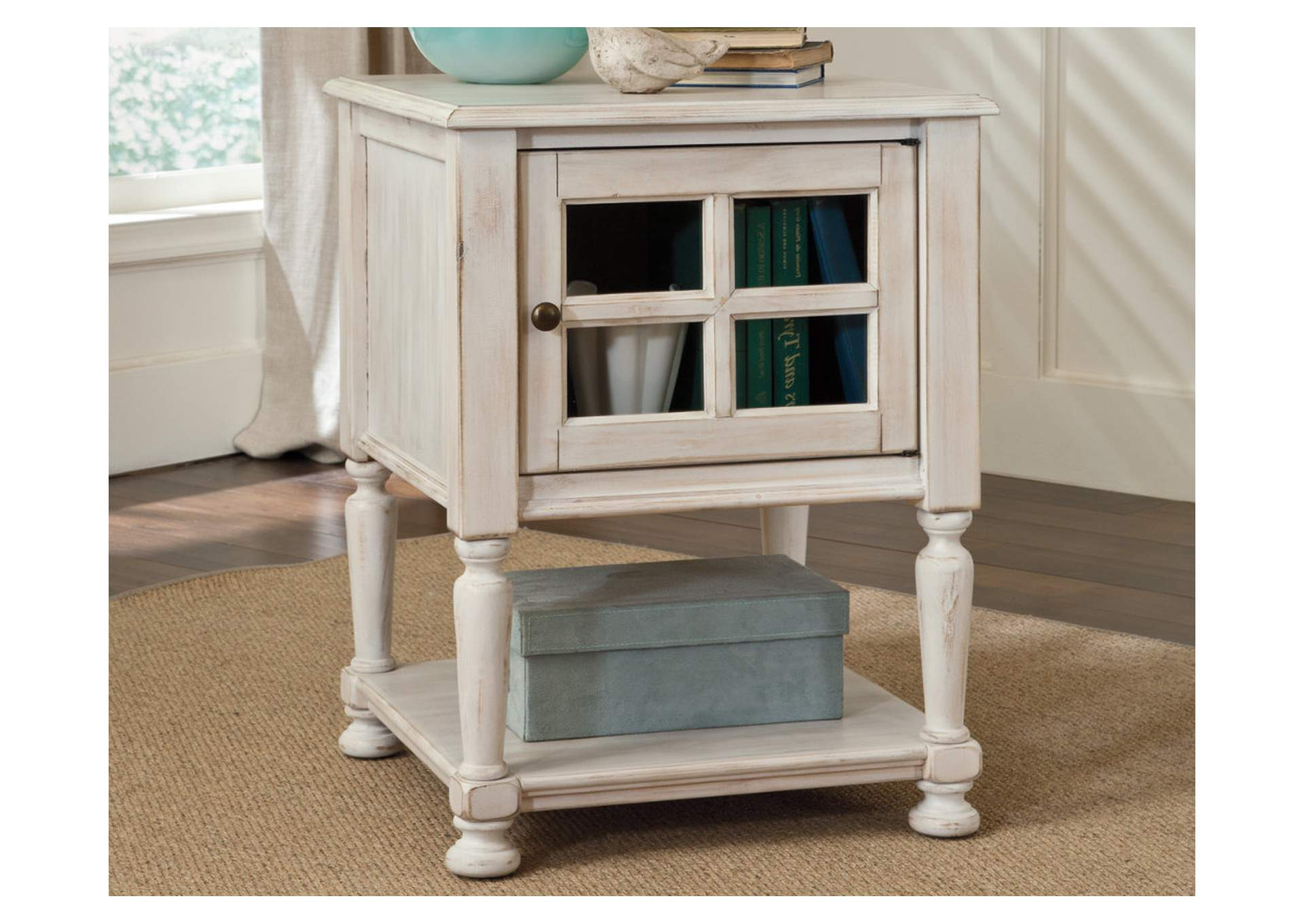 Cottage Accents Chair Side End Table,Signature Design By Ashley