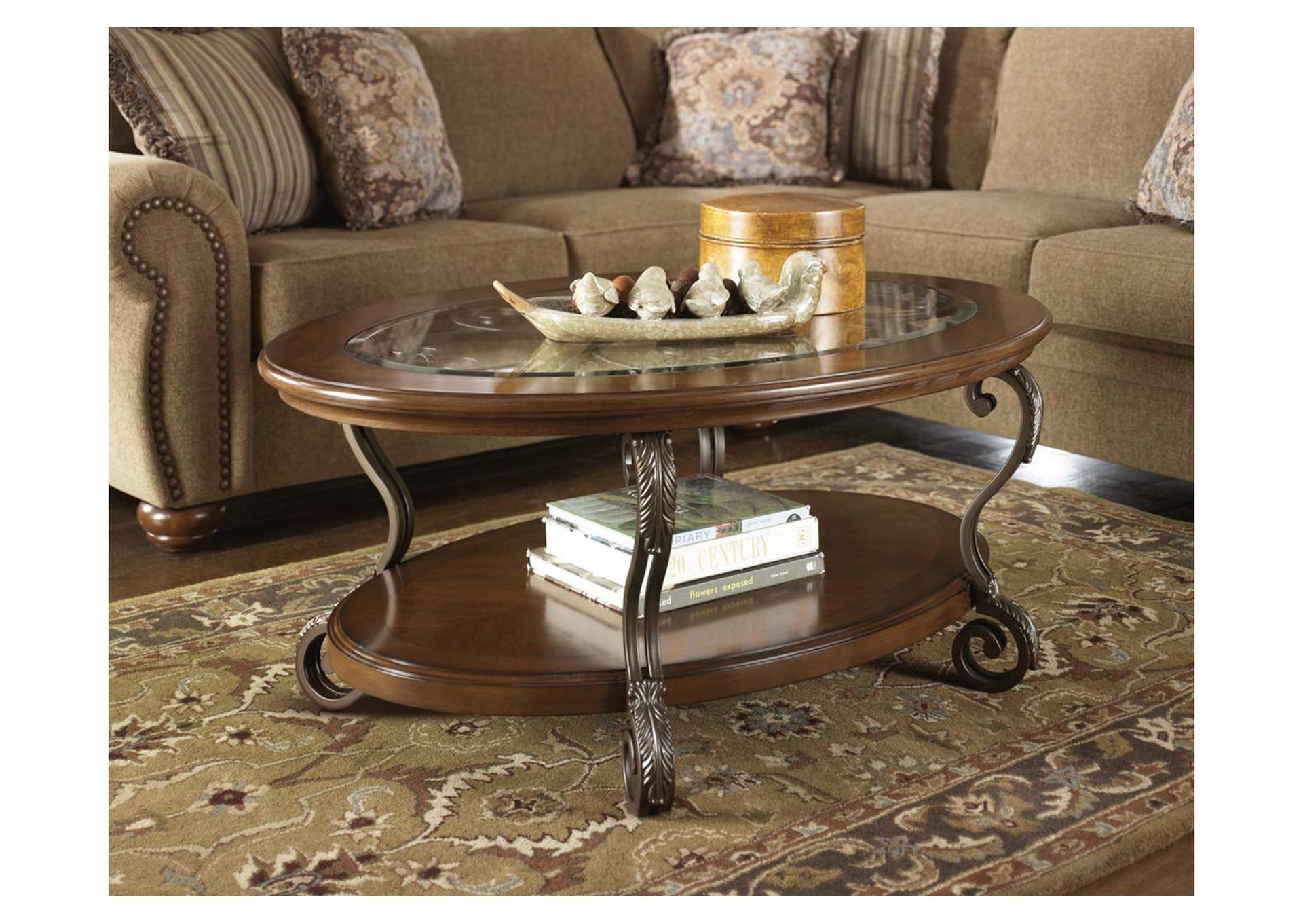 Nestor Oval Cocktail Table,Signature Design By Ashley