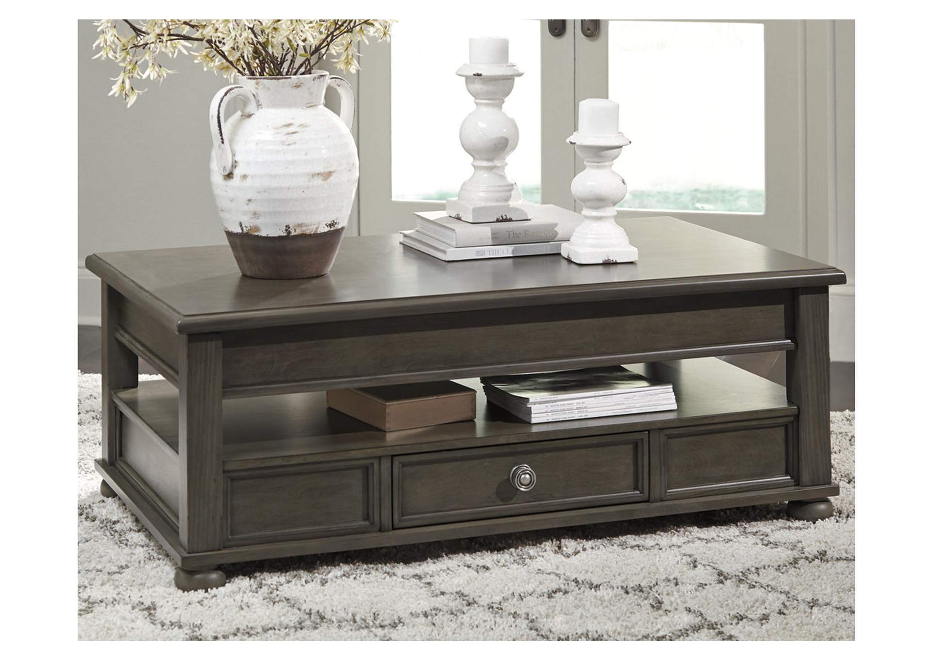 Devensted Gray Coffee Table w/Lift Top,Signature Design By Ashley