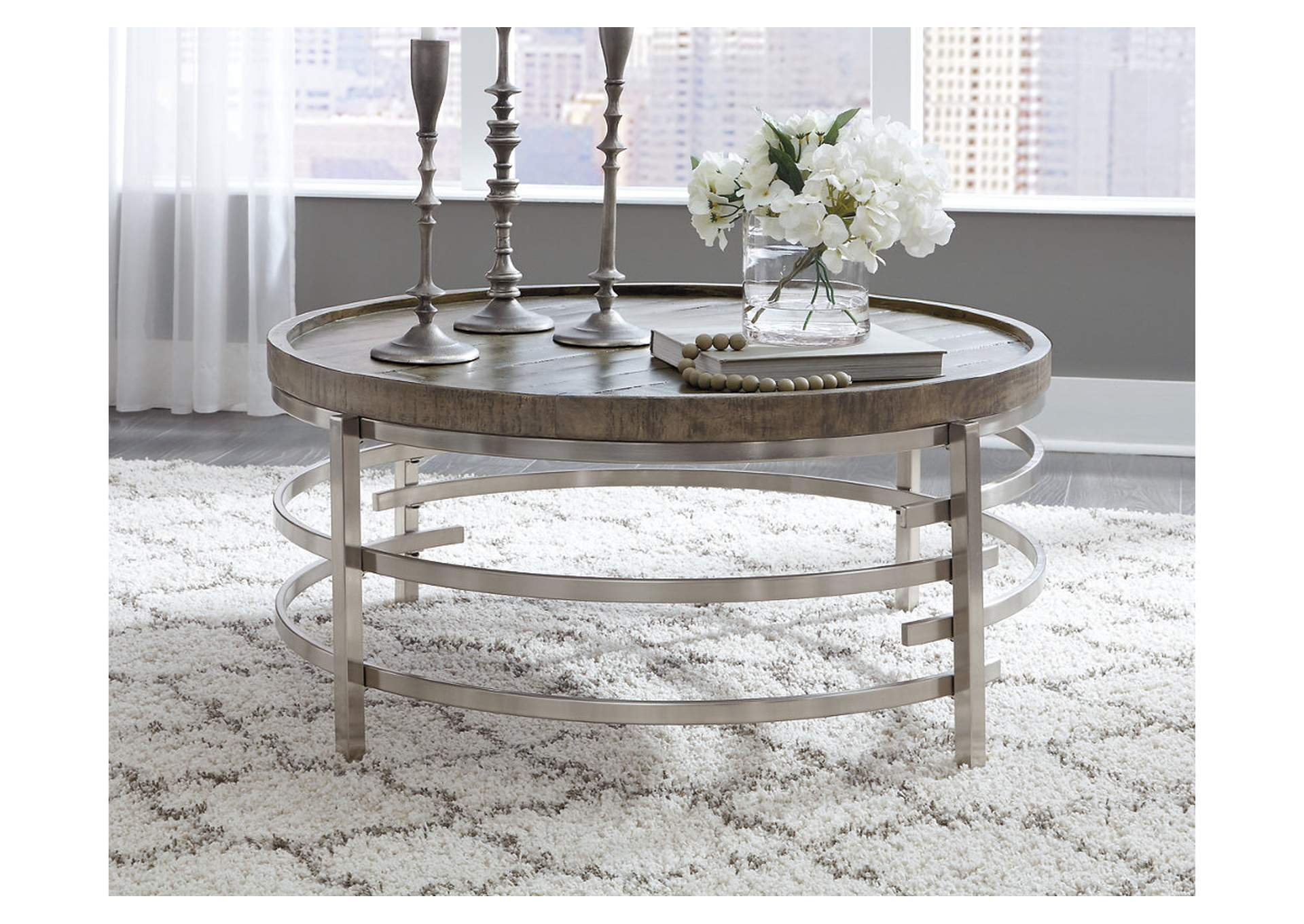 Zinelli Gray Coffee Table,Signature Design By Ashley