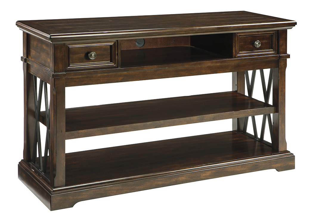 Roddinton Dark Brown Sofa Table,Signature Design By Ashley