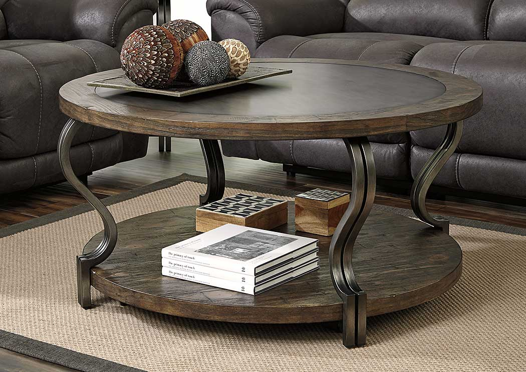 Ideal Furniture Danbury Volanta Round Cocktail Table