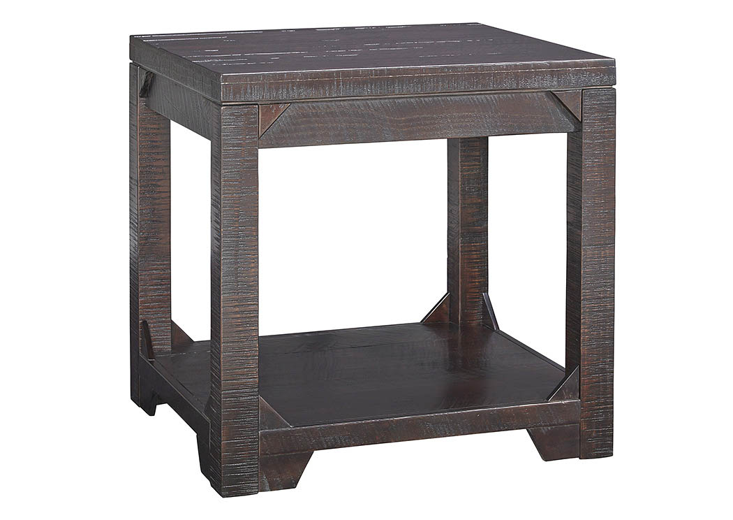 Rogness Rustic Brown Rectangular End Table,Signature Design By Ashley