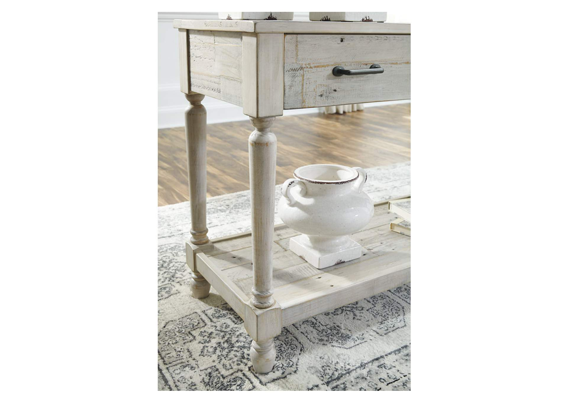 Shawnalore White Console Table,Signature Design By Ashley