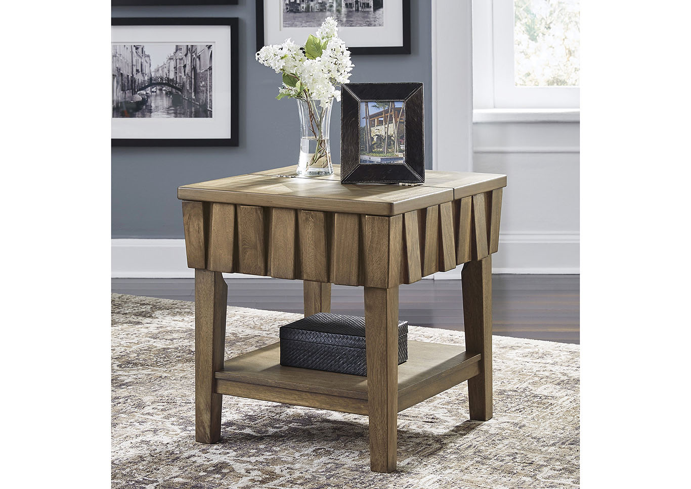 Rowenbeck Brown Rectangular End Table,Signature Design By Ashley