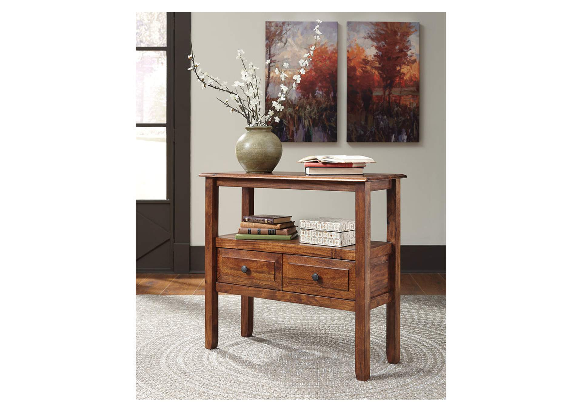 Abbonto Warm Brown Accent Table,Signature Design By Ashley