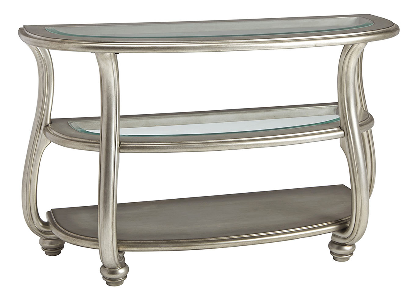 Coralayne Silver Sofa Table,Signature Design By Ashley