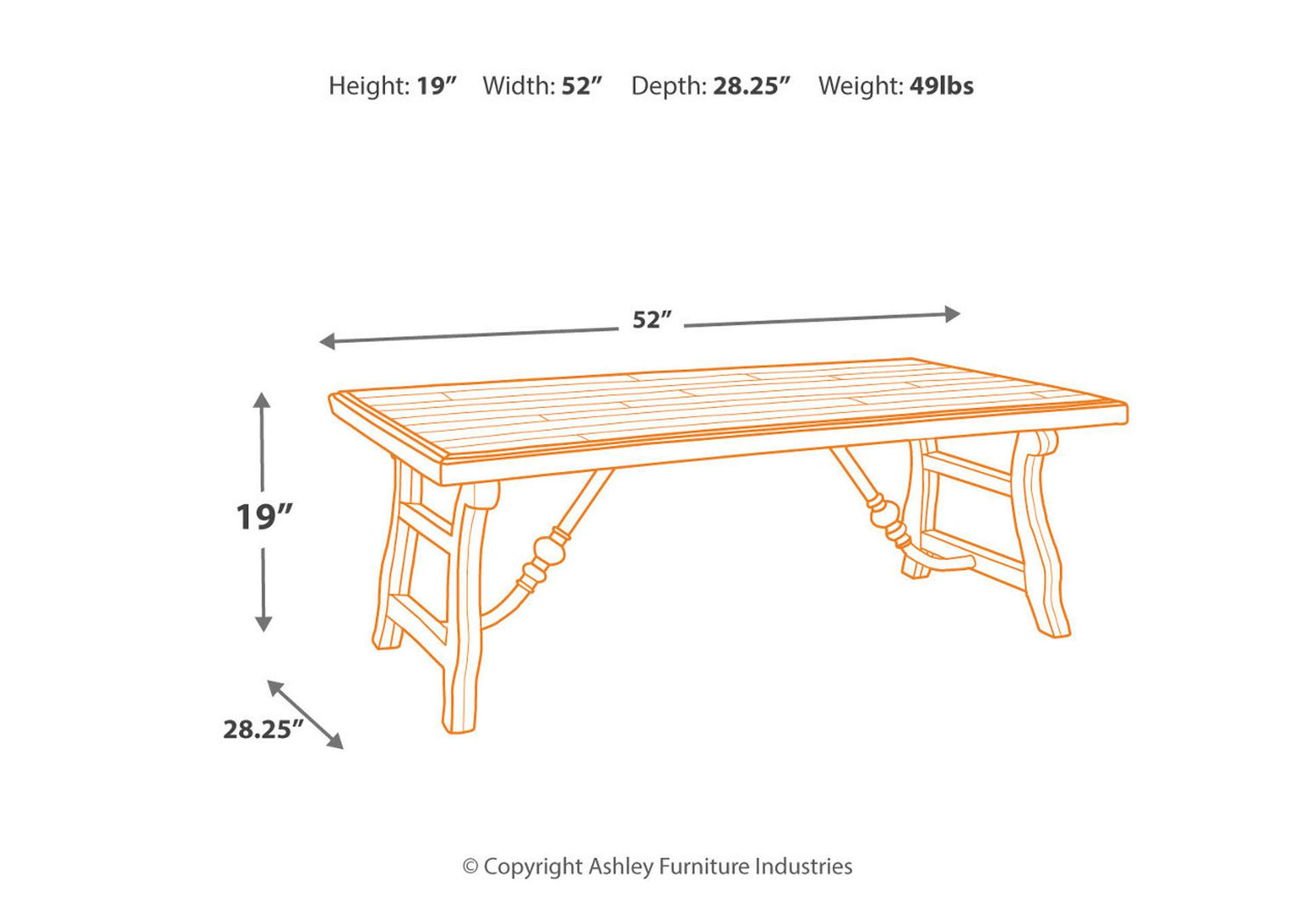 Dazzelton Coffee Table,Signature Design By Ashley
