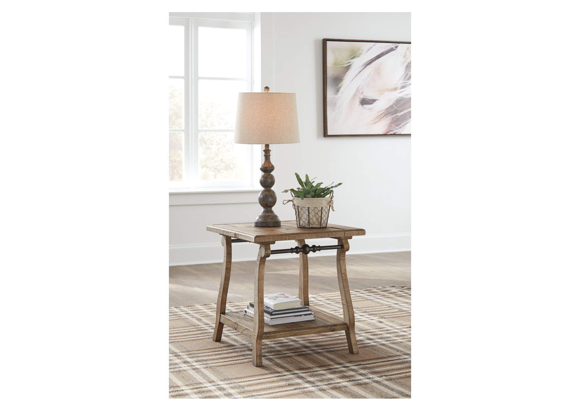 Dazzelton Two-Tone Rectangular End Table,Signature Design By Ashley
