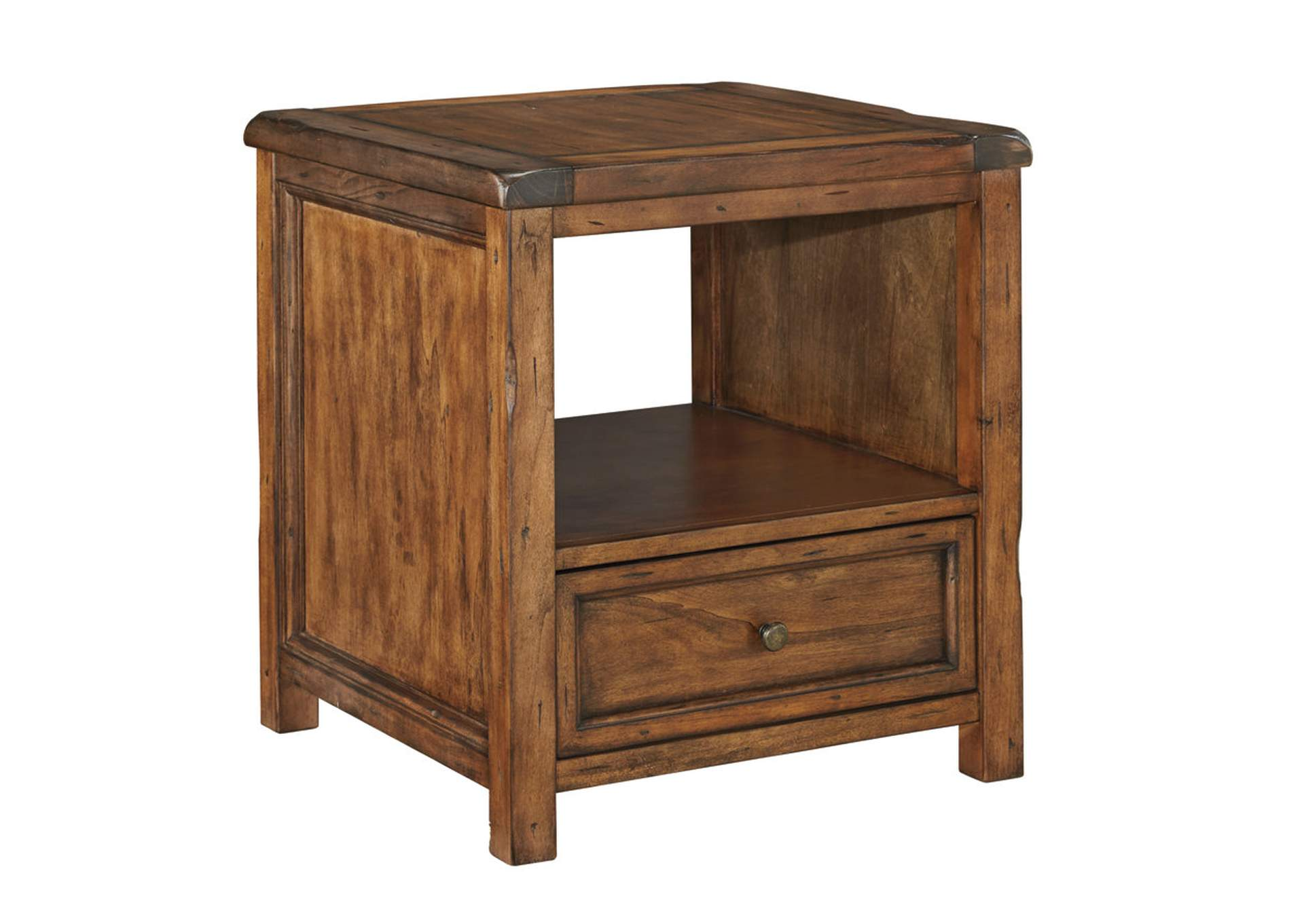 Tamonie Medium Brown Square End Table,Signature Design By Ashley