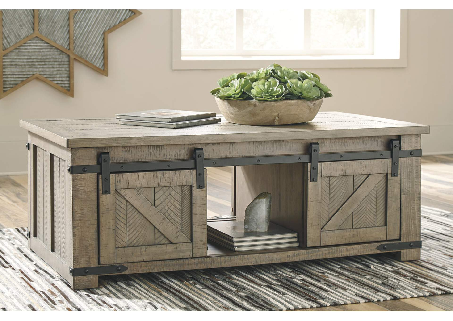 Sit Sleep Walker S Furniture Aldwin Gray Coffee Table